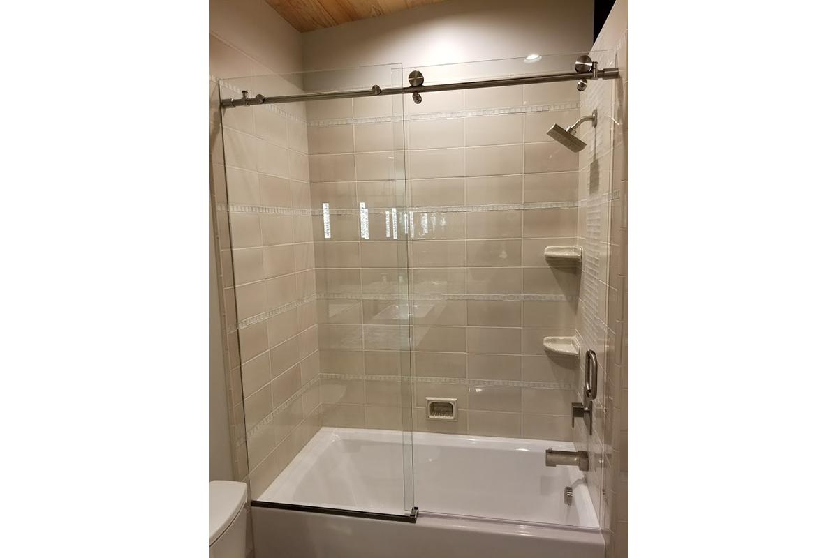 shower barn door installation